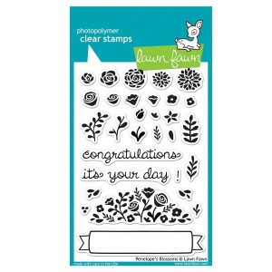 Lawn Fawn Penelope's Blossoms Stamp Set