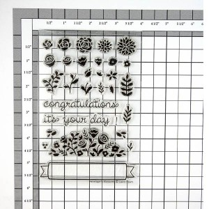 Lawn Fawn Penelope's Blossoms Stamp Set class=