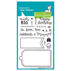 Lawn Fawn Birthday Tags Stamp Set