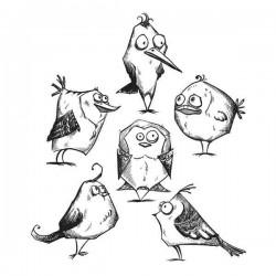 Crazy Birds by Tim Holtz