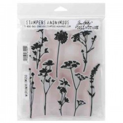 Tim Holtz Wildflowers Stamp Set