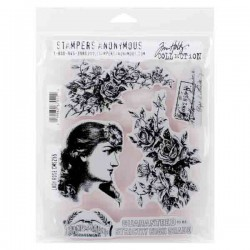 Stampers Anonymous Tim Holtz Lady Rose Stamp Set