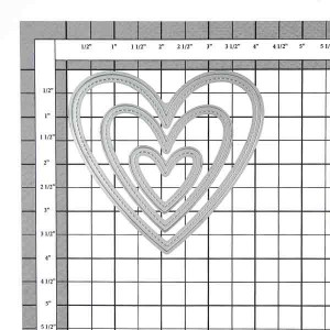 Lawn Fawn Stitched Heart Stackables Lawn Cuts class=