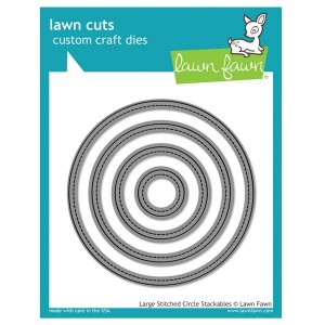 Lawn Fawn Large Stitched Circle Stackables Lawn Cuts