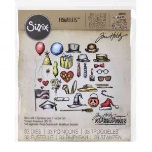 Tim Holtz Crazy Things Framelits Die Set