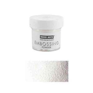 Hero Arts White Satin Pearl Embossing Powder class=