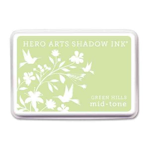 Green Hills Hero Arts Shadow Ink Pad, Mid-tone