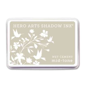 Wet Cement Hero Arts Shadow Ink Pad, Mid-tone class=
