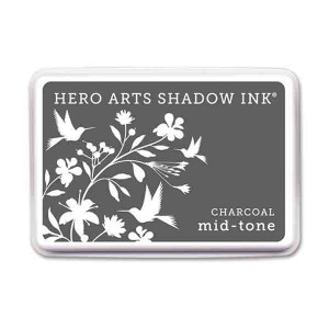 Charcoal Hero Arts Shadow Ink Pad. Mid-tone