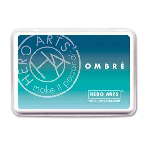 Hero Arts Tide Pool to Navy Ombre Ink Pad
