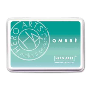 Hero Arts Mint to Green Ombre Ink Pad class=