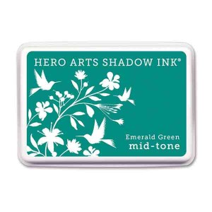 Emerald Green Shadow Ink Pad, Mid tone class=