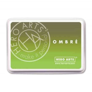 Hero Arts Lime to Forever Green Ombre Ink Pad class=