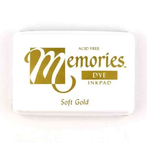 Soft Gold Memories Dye Ink Pad class=
