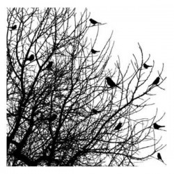 Impression Obsession Birds On Trees Cover-A-Card Stamp