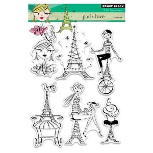 Penny Black Paris Love Clear Stamp Set
