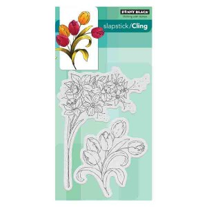 Penny Black Flower Gala Cling Stamp Set