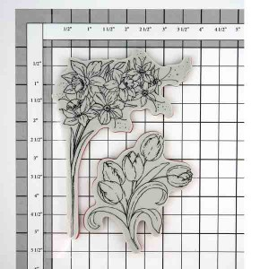 Penny Black Flower Gala Cling Stamp Set class=