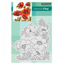 Penny Black Poppy Gems Slapstick Cling