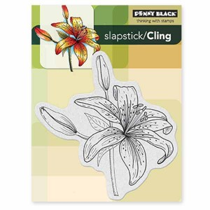 Penny Black Tiger Lily Slapstick/Cling Stamp