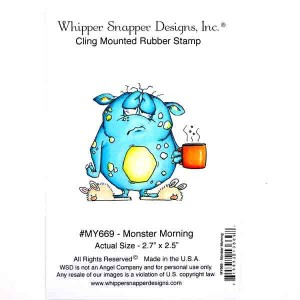 Whipper Snapper Monster Morning Stamp