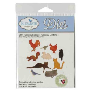 Elizabeth Craft Designs Country Critters 1 Die Set