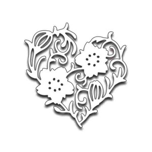Penny Black Flower Heart Creative Die