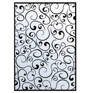 Mpress Retro Swirls Embossing Folder class=