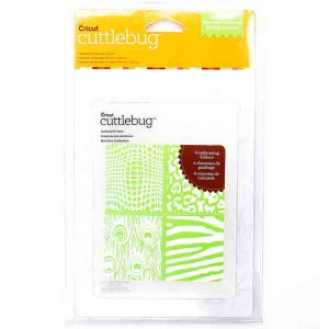 Animal Prints Cuttlebug Embossing Folder - 4 pk