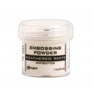 Ranger Weathered White Embossing Powder class=
