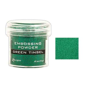 Ranger Green Tinsel Embossing Powder class=