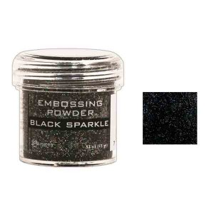 Ranger Black Sparkle Embossing Powder class=
