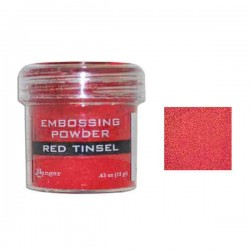 Ranger Red Tinsel Embossing Powder