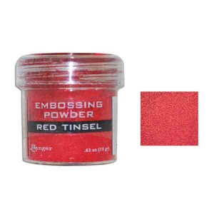 Ranger Red Tinsel Embossing Powder class=