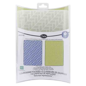 Sizzix Textured Impressions Embossing Folders - Houndstooth & Dots