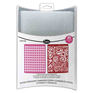 Sizzix Textured Impressions Embossing Folders - Diamond & Tropical Paisley