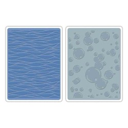 Waves & Bubbles Embossing Folders by Tim Holtz