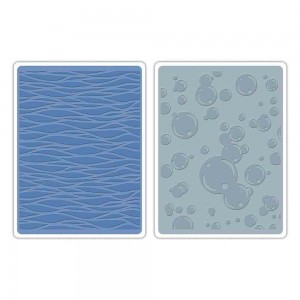 Sizzix - Tim Holtz Embossing Folders - Waves & Bubbles class=
