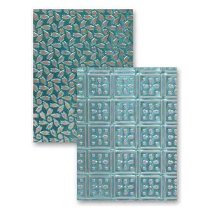 Spellbinders Patchwork Embossing Folder class=
