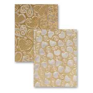 Spellbinders Hearts Embossing Folder class=