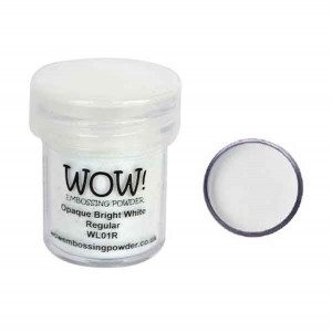 Opaque Bright White Embossing Powder