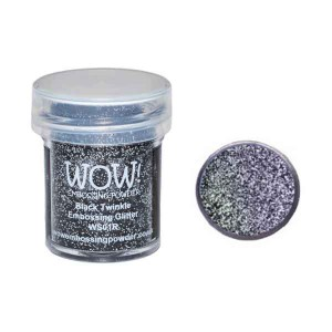 Black Twinkle Embossing Powder