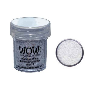 Diamond White Glitter Embossing Powder