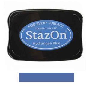 Hydrangrea Blue StazOn Solvent Ink Pad