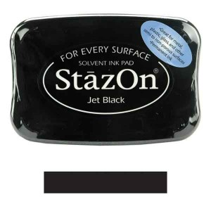 Jet Black StazOn Solvent Ink Pad
