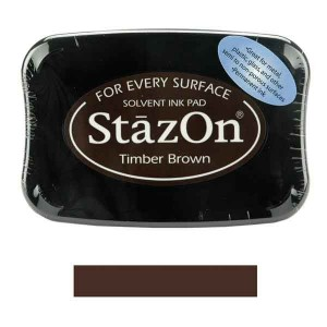 Timber Brown StazOn Solvent Ink Pad class=