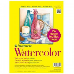 "Strathmore Watercolor 9""x12"" Paper Pad - Cold Press - 24 sheets"