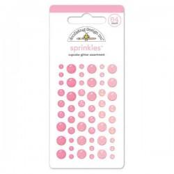 Self Adhesive Glitter Enamel Dots - Cupcake