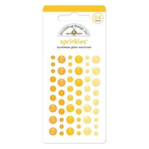 Self Adhesive Glitter Enamel Dots - Bumblebee