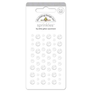 Self Adhesive Glitter Enamel Dots - Lily White class=
